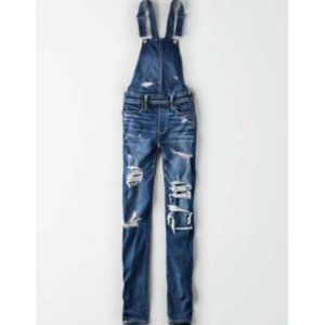 American Eagle Outfitters Jeans - NEW American Eagle Dark Distressed Jegging Overall